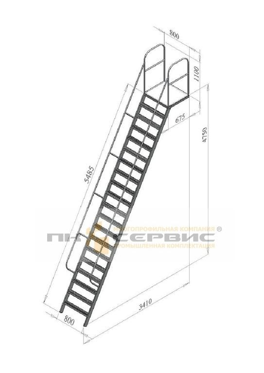 Приставная лестница из металла