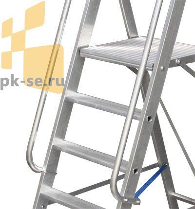 У вертикальных лестниц, лестниц с углом наклона к горизонту более 75 град.